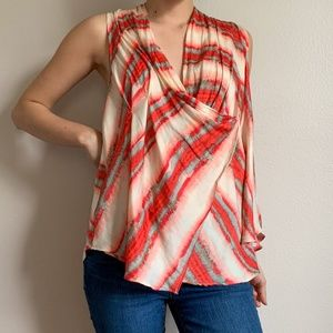 Free People Striped Red Multicolor Blouse